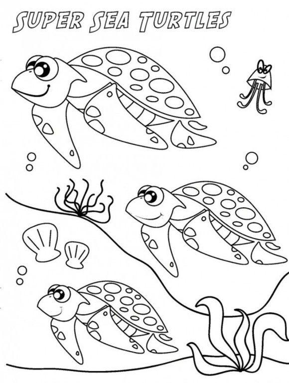 Sea Turtle Migration Coloring Page | Hibernation/migration ...