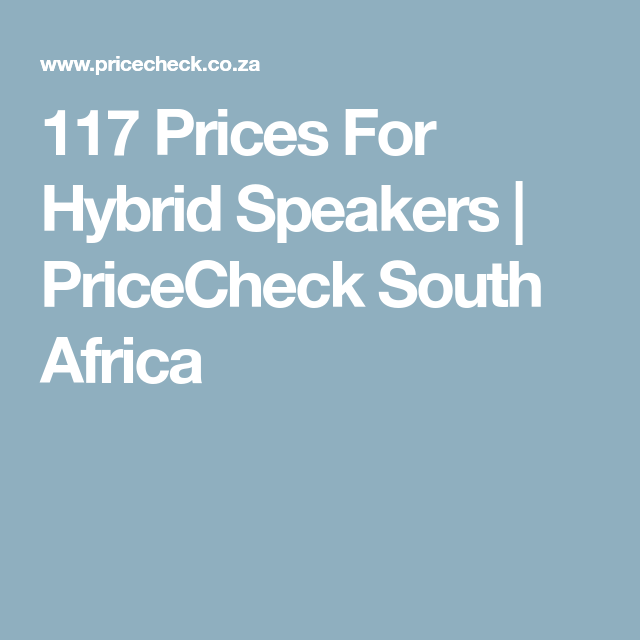 Speakers Pricecheck South Africa