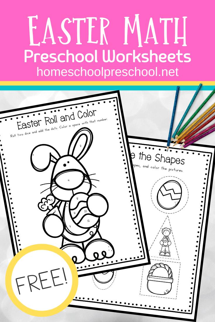 Easter Activities For Preschoolers Easter Math Easter Math Worksheets Easter Math Activities Preschool [ 1102 x 735 Pixel ]