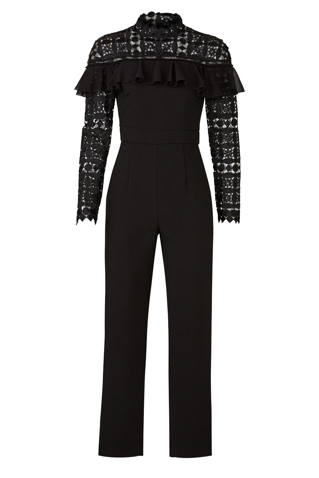 a9edd676f46 Slate   Willow Lace Yoke Jumpsuit
