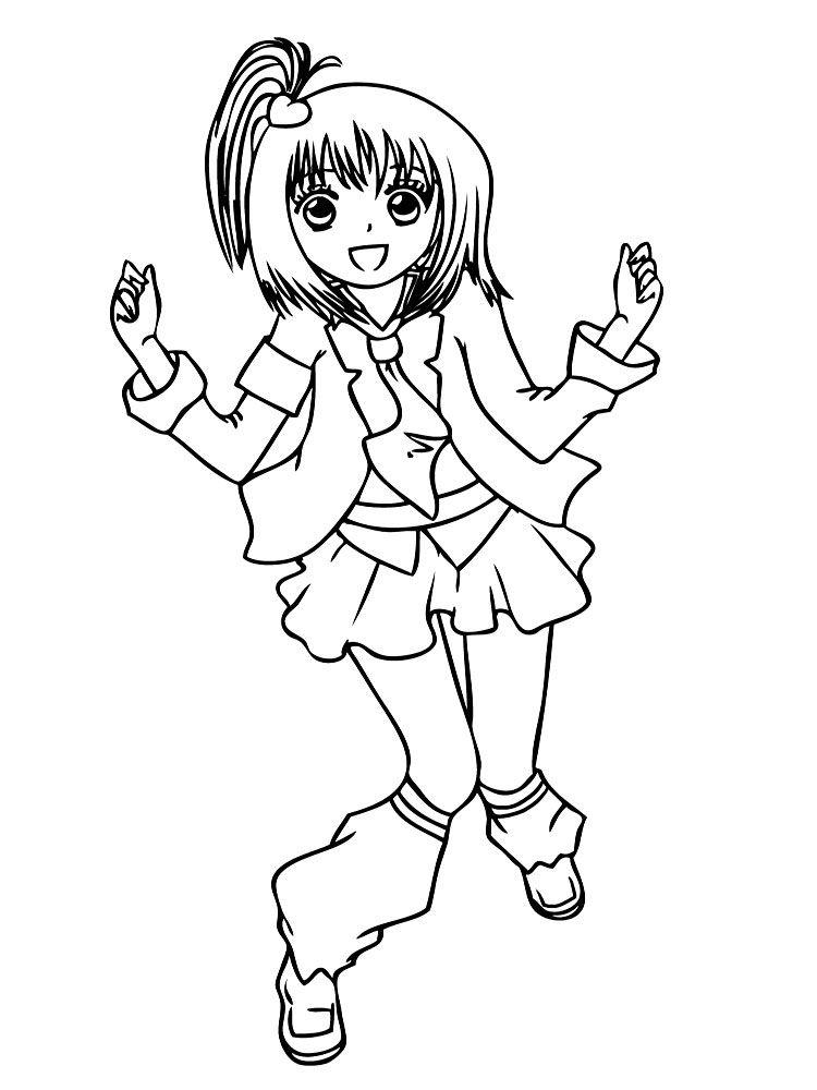 Imprimir Imagenes Dibujos Para Colorear Anime Para Ninos Y