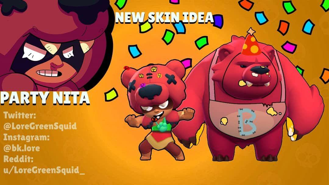Concept Skin For Nita Party Nita Brawlstars Brawlstarsskins Brawlstarsnita In 2020 Mario Characters Character Fictional Characters