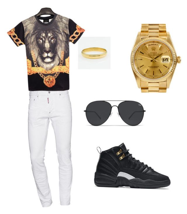 """""""Untitled #9"""" by obey-bebo ❤ liked on Polyvore featuring NIKE, Dsquared2, Rolex, men's fashion and menswear"""