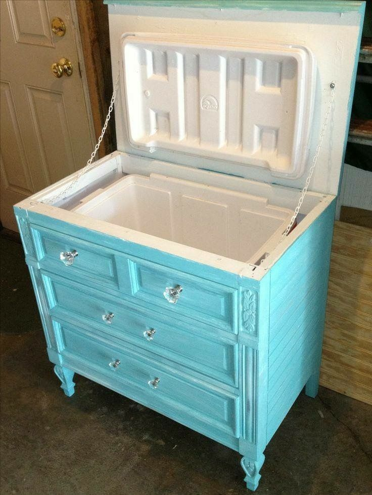 Tip of the Day Monday-Cool Cooler Turn an old dresser into a cooler