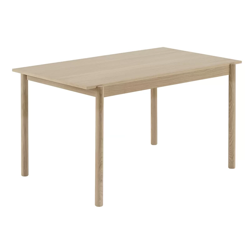 Linear Wood Table In 2020 Oak Table Wood Table Wooden Dining