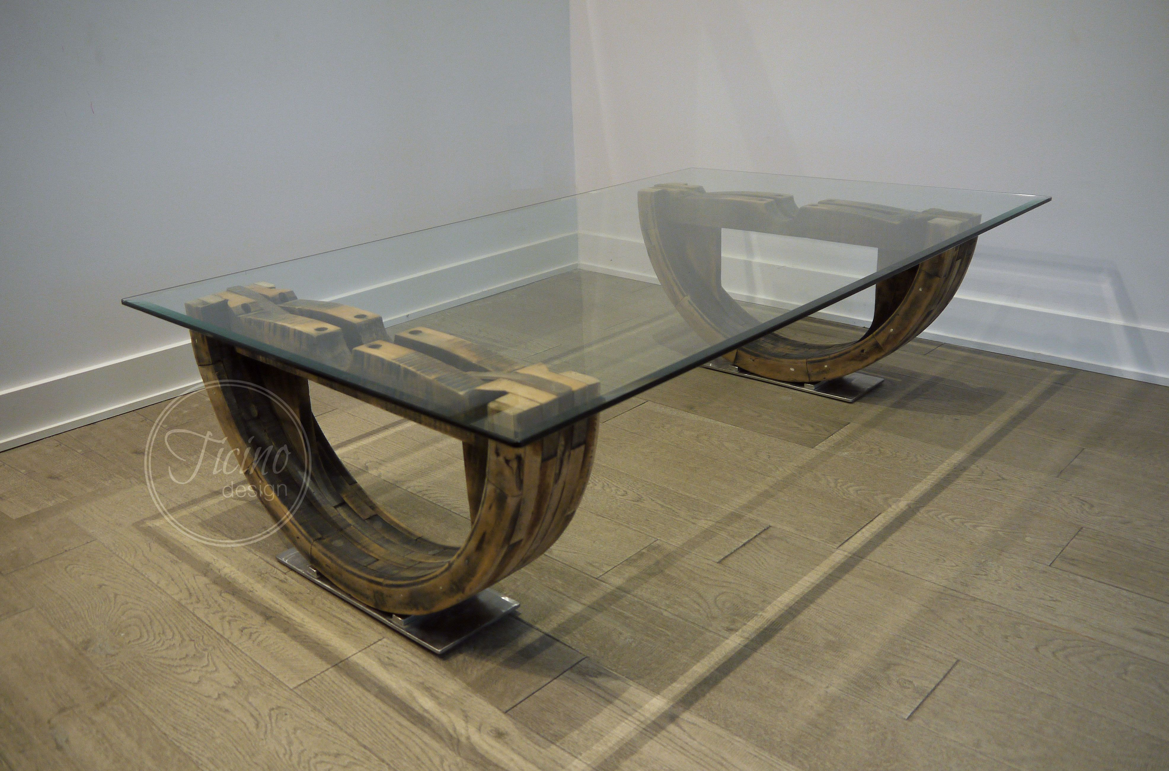 - Reclaimed Wood Coffee Table Maisons Contemporaines, Maison