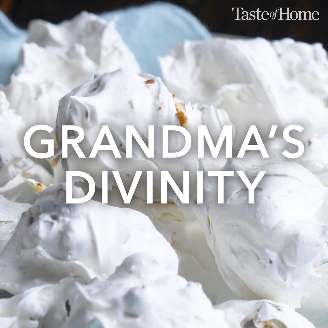 Every Christmas my grandmother and I made divinity, just the two of us. I still make it every year. —Anne Clayborne, Walland, Tennessee