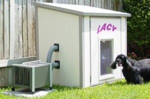 5 Coolest Dog House Air Conditioning Systems Cool Dog Houses Dog House Air Conditioner Dog House With Ac