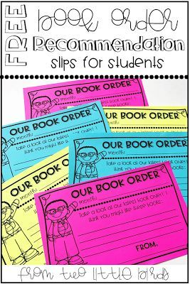 Free Book Order Recommendation Slips To Send Home To Encourage