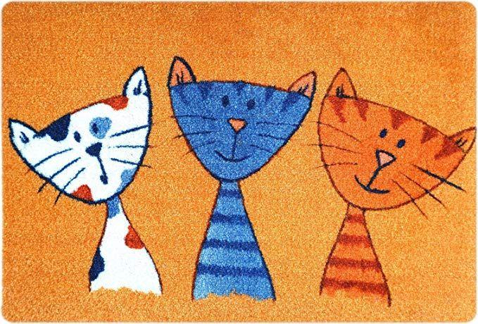 Deco Mat Fussmatte Katze Fussmatte Innen Rutschfest Und Waschbar