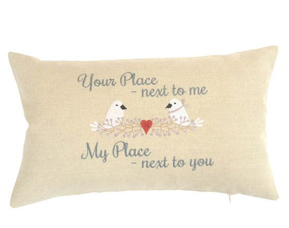 Wedding keepsake cushion, unique personalised embroidered cushion pillow,  design your own