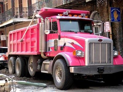 It S A Pink Dump Truck Enough Said With Images Pink Truck