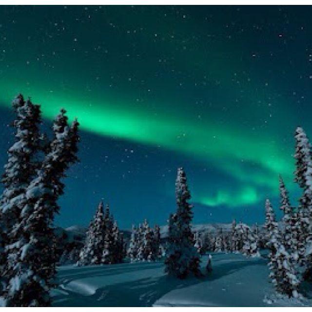 Aurora Over Fairbanks, Alaska, USA