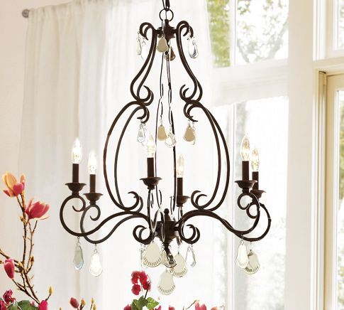 Another great chandelier from Pottery Barn.