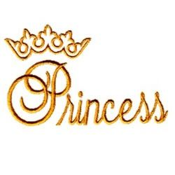 Princess gold writing with crown
