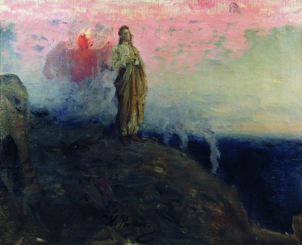 Follow me, Satan (Temptation of Jesus Christ) - Ilya Repin ...