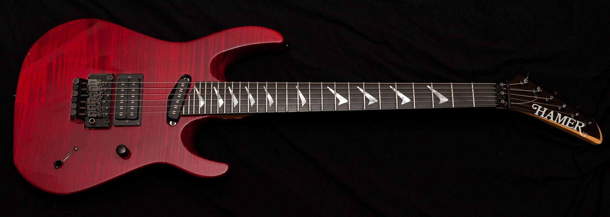 1990 hamer californian 27 frets shred guitars guitar playing guitar music. Black Bedroom Furniture Sets. Home Design Ideas