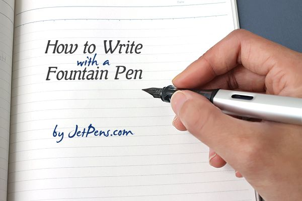 Writing with a fountain pen calligraphy