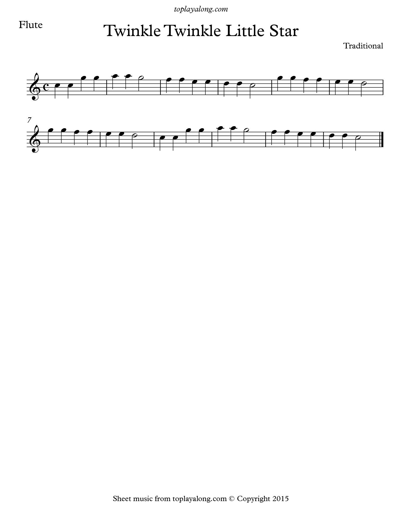twinkle twinkle little star sheet music pdf