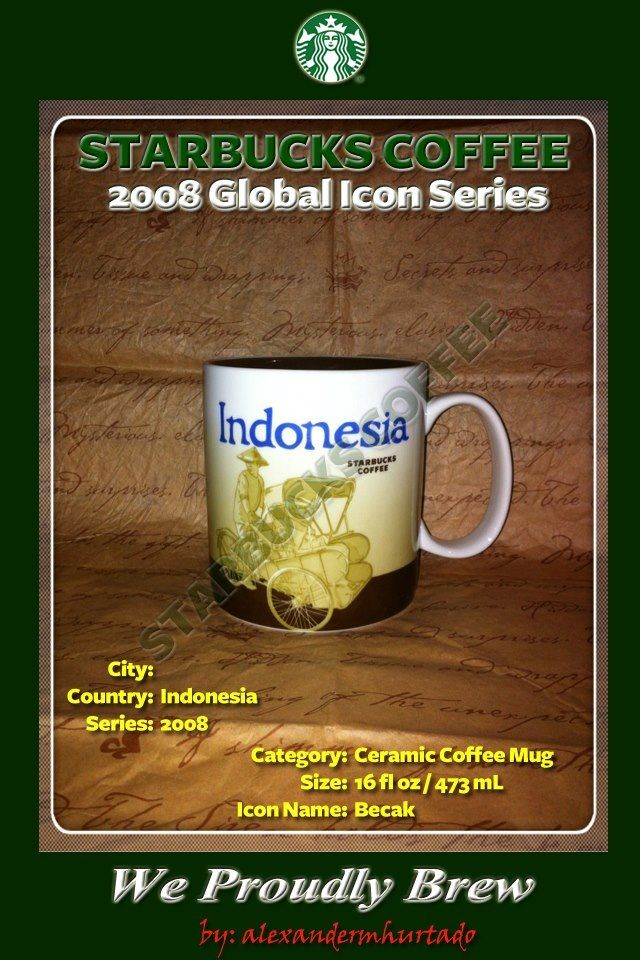 2008 Starbucks Global Icon Series Indonesia (Icon Name
