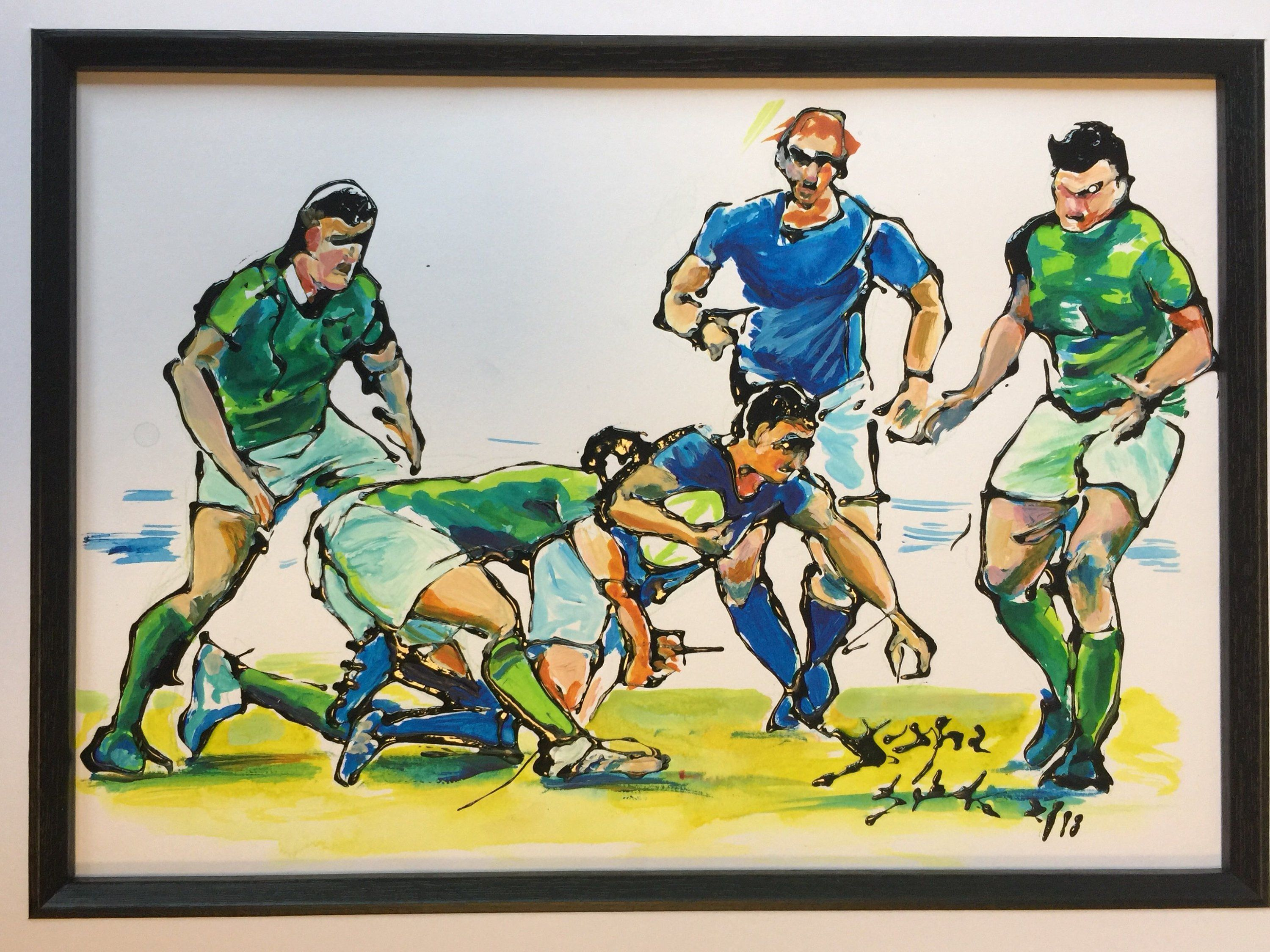 Rugby Original Artwork Rugby Original Picture Rugby Original Painting Rugby Wall Art Rugby Picture Rugby Gift Gift For Rugby Fan Rugby Pictures Rugby Art Rugby Gifts