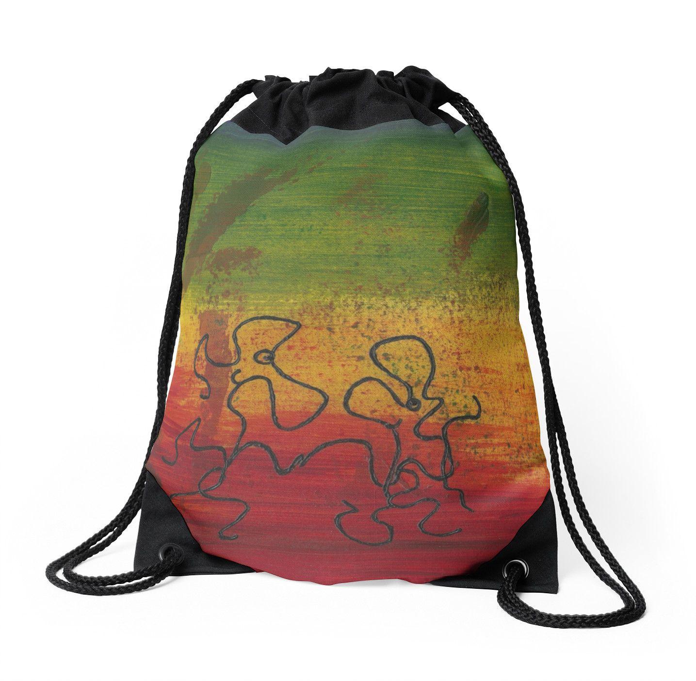 Dance Art Dancing Couple 28B  Drawstring Bag by Manuel Süess  81821e57b