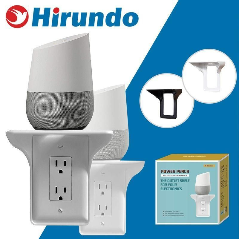 hirundo wall outlet shelf power perch white black wall on wall outlet id=49759