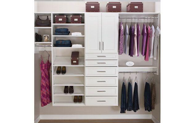 Classica White Reach-In Closet. My someday dream closet