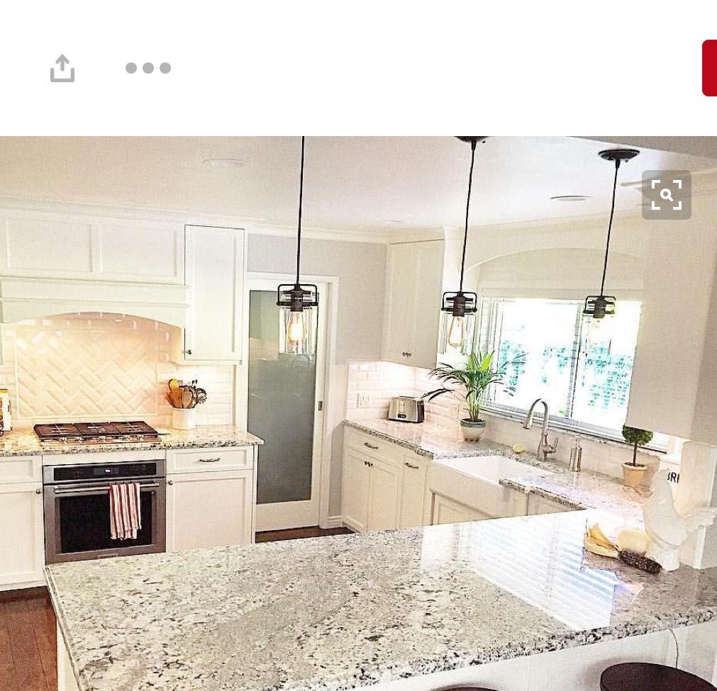 Blizzard White Granite Kitchen Remodel White Granite Granite