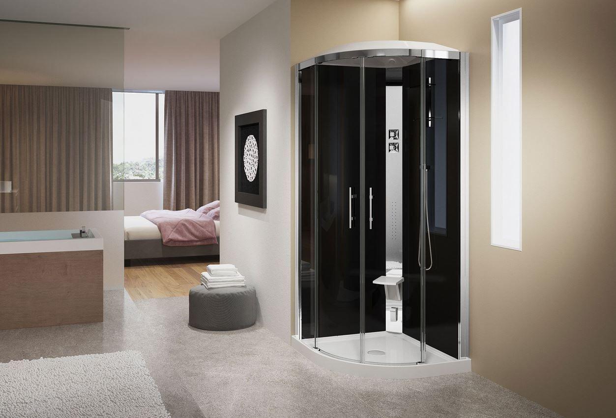 Cabine Douche Thalasso concernant cabine de douche crystal de novellini avec buses hydromassantes et