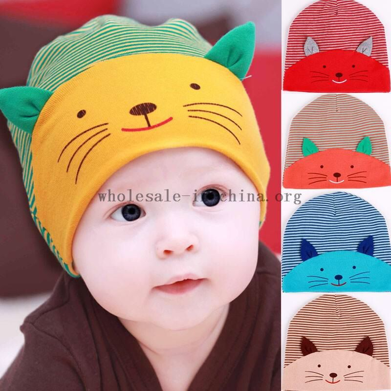 Image from http://www.wholesale-in-china.org/photo/wholesaler-25957/365191_1-x-fashion-infant-hat-boys--amp--girls-cat-style-stripe-cotton-cute-beanie-hat-headwear-cap-for.jpg.