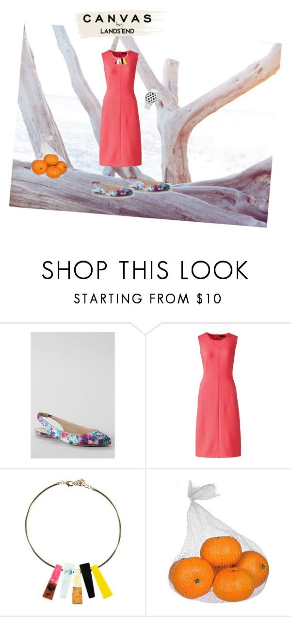 """""""Paint Your Look With Canvas by Lands' End: Contest Entry"""" by cathynmy5 ❤ liked on Polyvore featuring Lands' End"""