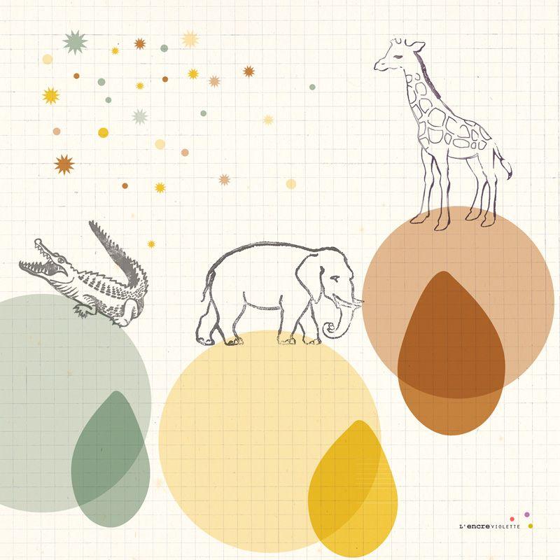 Animal Print for Kids, animal wall art - L\'Affiche Moderne | Navidad ...