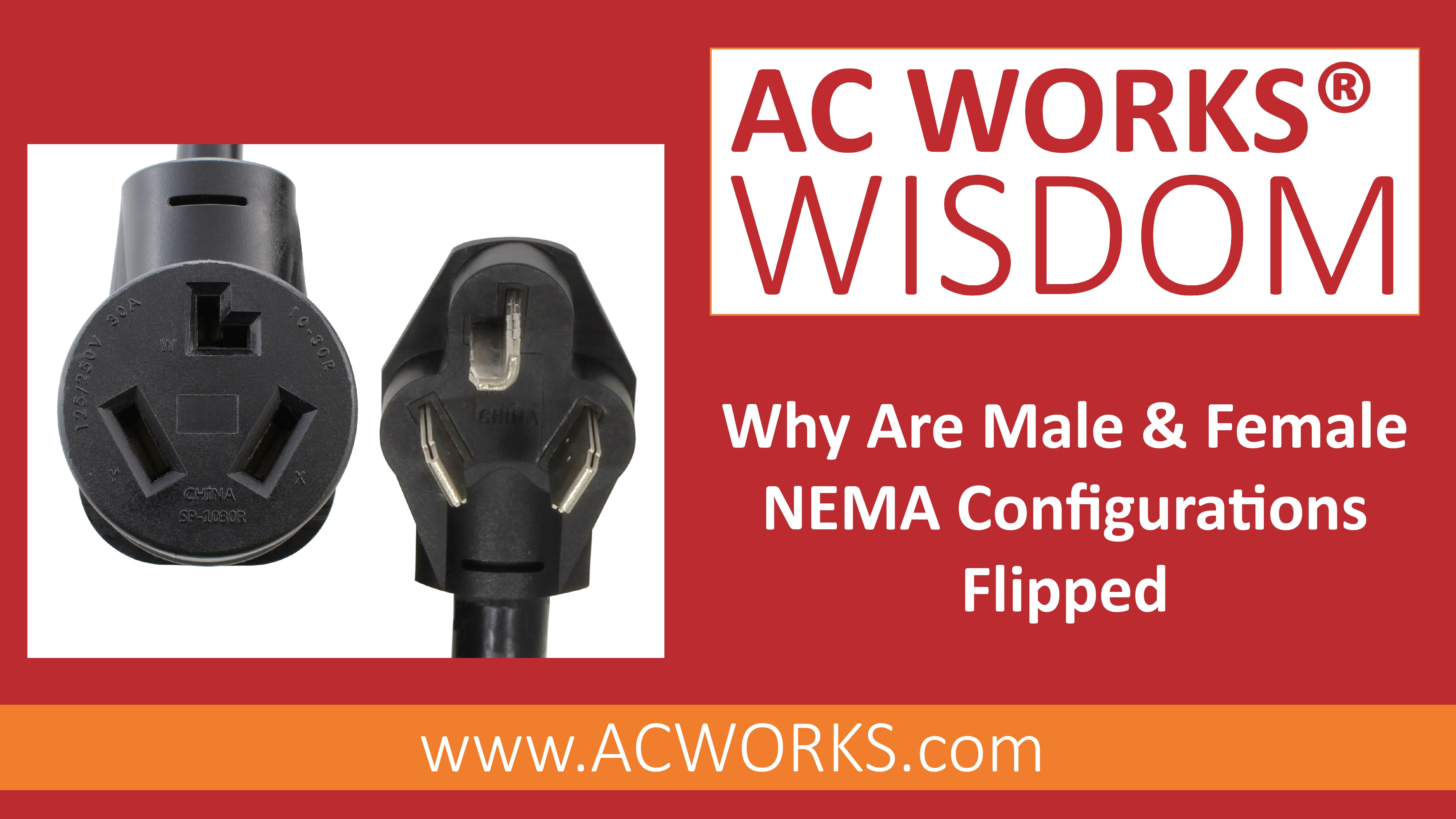 Why Are Male Female Nema Configurations Flipped Configuration Flipping It Works