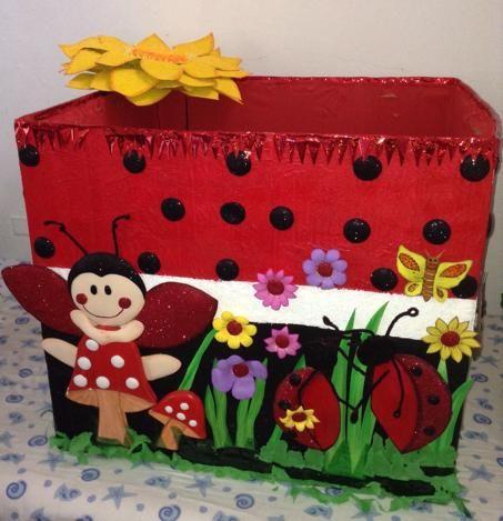 Combo de mariquita para decorar su fiesta infantil for Caja de colores jardin infantil
