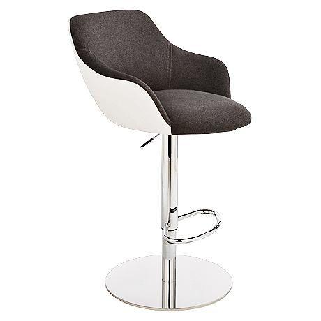 Sensational Montana Dark Gray And White Adjustable Barstool Interior Theyellowbook Wood Chair Design Ideas Theyellowbookinfo