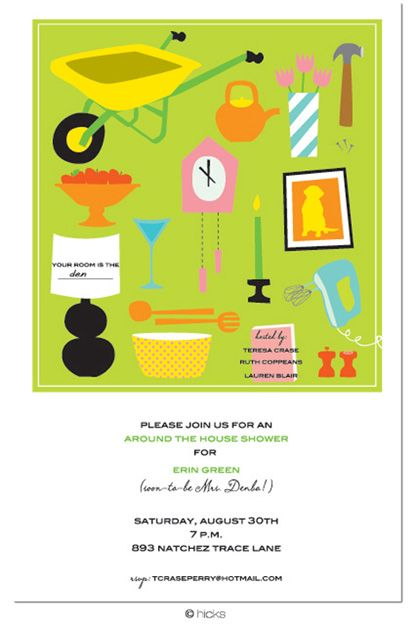Around the house shower invitations architectural designs household shower decorations favorite around the house bridal filmwisefo