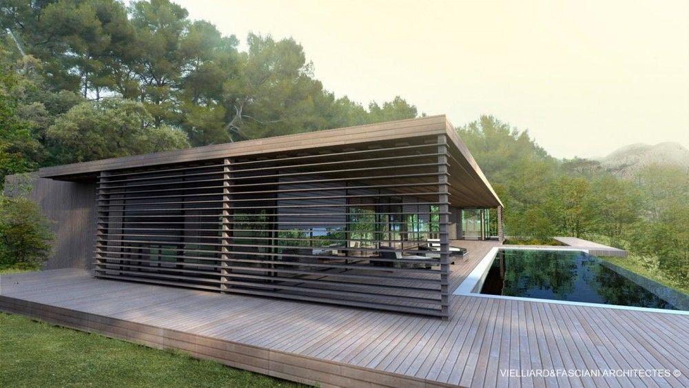 Maison Contemporaine En Bois Aix En Provence U2013 Vielliard Fascianni U2013  Architectes Contemporains Maison Bbc,