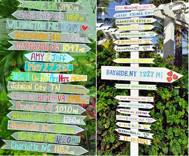 Wooden Pallet Wedding Signs
