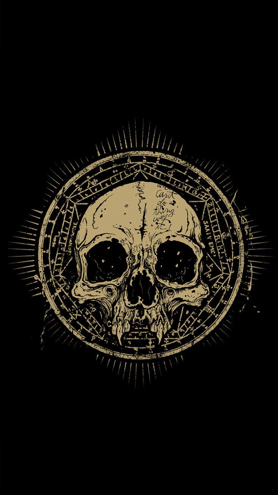 Iphone wallpaper tumblr skull - Skull Talisman Grunge Android Wallpaper Free Download
