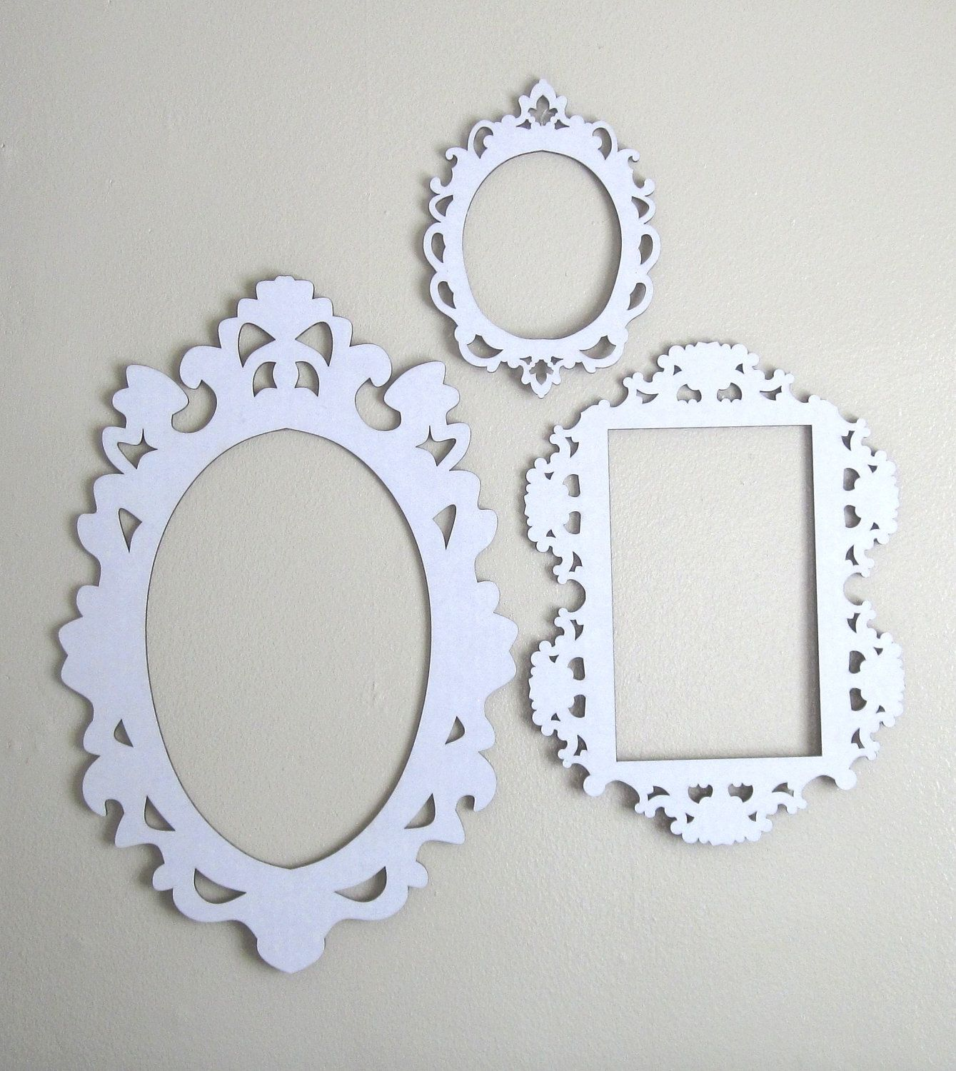 White Cardboard Frames - Set of Three | Third, Etsy and Oval frame