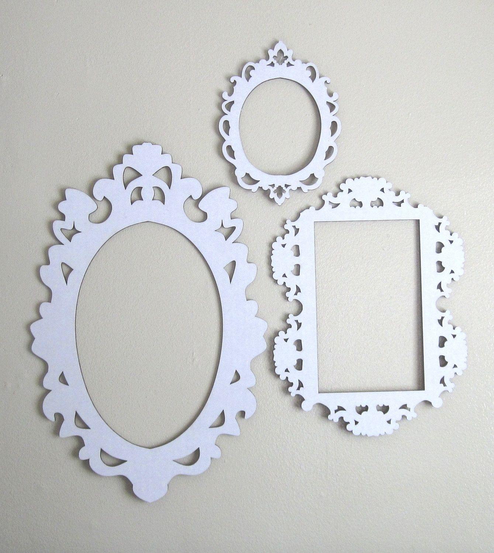 White Cardboard Frames - Set of Three | Bedroom: Manual | Pinterest ...