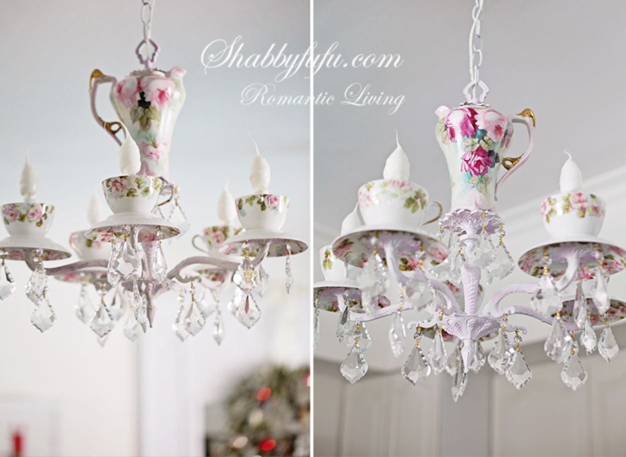 Simple holiday mannequin idea and a new chandelier vintage teacups simple holiday mannequin idea and a new chandelier shabbyfufu aloadofball Images