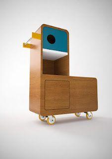 """voglio parlarvi di Quackie"" - duckie storage furniture for kids"