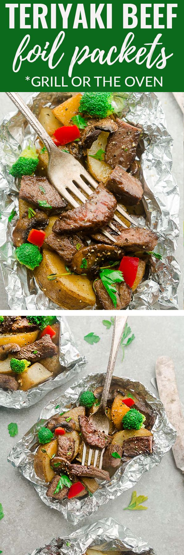 Teriyaki Beef Foil Packets Are The Perfect Easy Meal That You Can Make For Barbecue Season Or A Busy Weeknight Be Teriyaki Beef Foil Dinners Foil Packet Meals