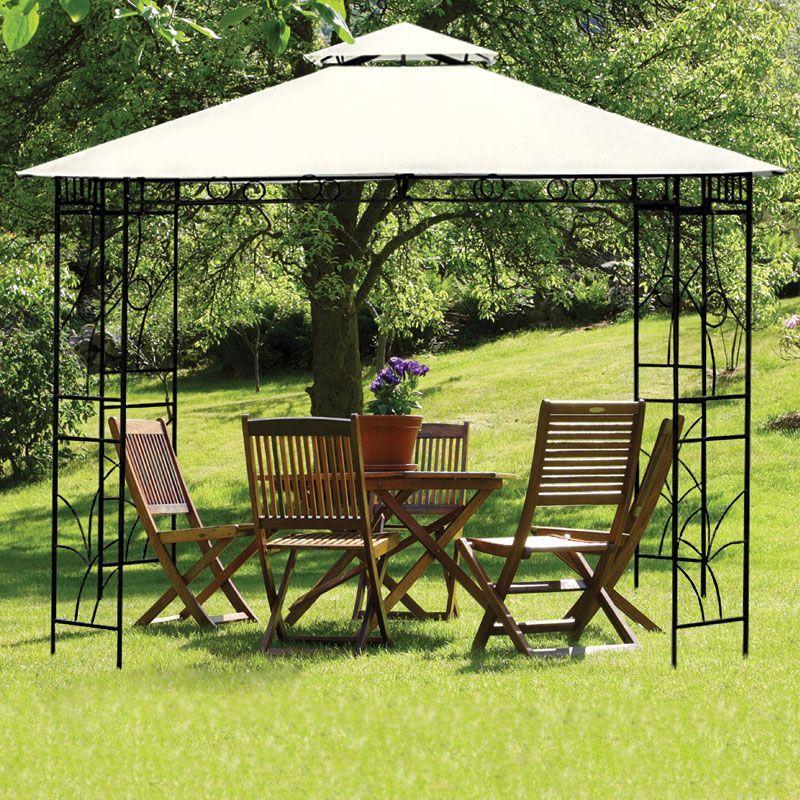 Garden Furniture Qd buy 3m x 3m beige merion gazebo - online at cherry lane | garden