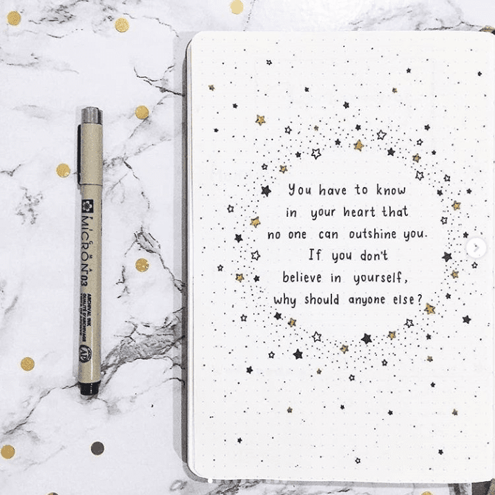 12 Quote Layouts for Your Bullet Journal + Inspirational Quotes | ElizabethJournals