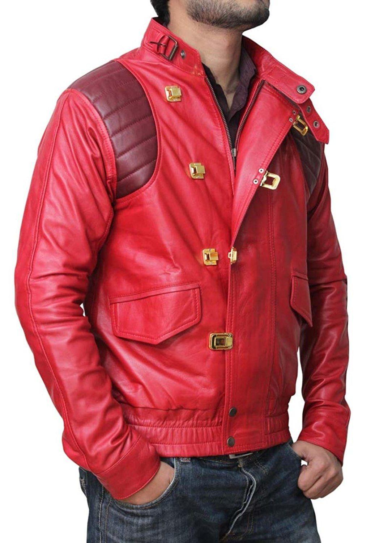 Akira Shotaro Kaneda Capsule Logo Red Bomber Jacket Red Bomber Jacket Mens Outfits Kaneda Jacket [ 1500 x 1084 Pixel ]