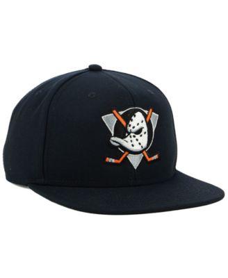 af0616735 Authentic Nhl Headwear Anaheim Ducks Mighty Ducks Collection Snapback Cap -  Black Adjustable