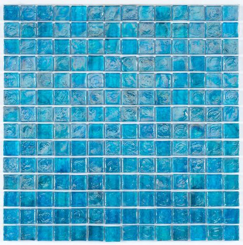 Iridescent Pool Glass Tile Pale Blue 1x1 Glass Tile Iridescent Glass Tiles Glass Mosaic Tiles